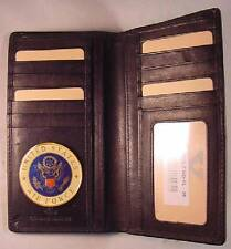 USAF US AIR FORCE BLACK LEATHER BIFOLD VERTICAL 13 CREDIT CARD WALLET