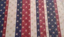 American red off white blue stripe glitter stars Valance