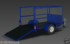 Trailer Plans- CAGE TRAILER PLANS - 3 SIZES- 7x4 8x5 & 9x5ft - PRINTED HARDCOPY
