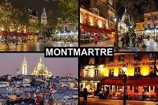 SOUVENIR FRIDGE MAGNET of MONTMARTRE PARIS FRANCE