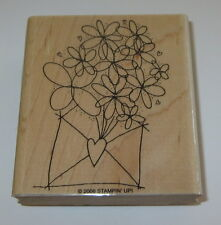 Flowers Envelope Stampin' Up! Rubber Stamp New Heart Floral Cheery Daisy Retired