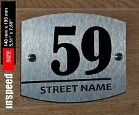 Elegant personalized house sign (#59) / plaque / plate number and street name