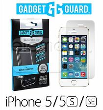 GADGET GUARD Black Ice Tempered GLASS Screen Protector for Apple iPhone 5S 5C SE