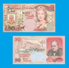 Gibraltar 50 Pound Banknote 1995. UNC - Reproductions