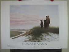 "Donald Vann ""Spring Visitors"" Poster Native American Images Wildlife Bears"