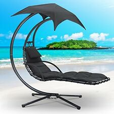 Helicopter Swinging Sun Lounger Hammock Chair Swing Seat Cushion Garden Bench bl
