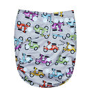 SEE DIAPERS ORGANIC BAMBOO TERRY BABY CLOTH DIAPER WITH 2 TERRY INSERTS SCOOTER