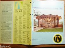 1964 TIMBER STRUCTURES Laminated Arches Beams Domes OREGON STATE Vintage Catalog