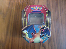 CHARIZARD POKEMON TIN EMPTY  USE FOR STORAGE OR HOLD CARDS