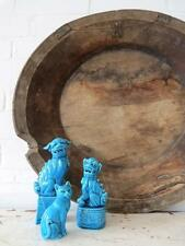 Antique Extra Large Rustic Wooden Fruit Bowl Hand Carved Trencher