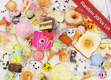 Lot 20 Random Kawaii Squishies Bun Rilakkuma Toast Donut Bread Squishy Cat charm