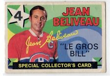 1X JEAN BELIVEAU 1971 72 O Pee Chee #263 VG Montreal Canadiens Le Gross Bill OPC