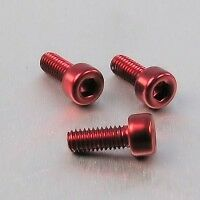 AUDI TT  Mk1 GEAR SURROUND anodized BOLTS RED!!! COLOUR !! WOW