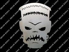 Frankenstein Skull Metal Wall Art Garage Hot Rat Rod Kustom Greaser Low Brow