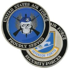 AF Security Forces USAF AIR FORCE PROUDLY SERVED Challenge Coin