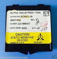 SC9001-09 ALPHA INDUSTRIES CAPACITOR CHIP RF MICROWAVE PRODUCT 10/units total