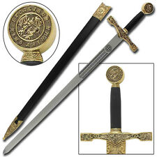 Medieval King Arthur Excalibur Replica Longsword - Gold