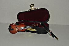 Violine mit Koffer  , 1:12 - Puppenmöbel , Puppenstuben