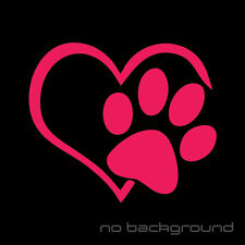 Heart Paw Sticker Vinyl Decal - Dog Cat Pet Puppy Love Wall Decor Car Window