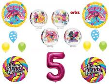 TROLLS 5TH Orbz Happy Birthday Party Balloons Decoration Supplies Poppy Movie