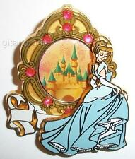 Disney Happiest Celebration on Earth Gold Frame Castle Princess Cinderella Pin