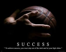 Basketball Motivational Poster Print Art NBA College Classroom Success MVP468