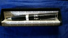 NSA National Sercurity Agency Executive Pen Black Ink Medium Point Chrome Accent