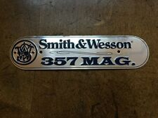 Vintage SMITH WESSON Pistol Rifle Aluminum Gun SIGN Bullet Ammo Tag 357 Magnum