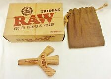 "New RAW Wood Triple Barrel ""The Trident"" Cigarette Holder Free Shipping"