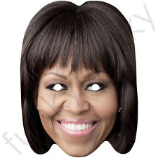 Michelle Obama Celebrity Politician Card Mask - All Our Masks Are Pre-Cut!