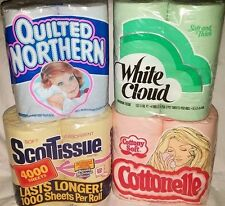Vtg Cottonelle Scot Northern Yellow Pink Blue Green Toilet Paper Advertising Lot