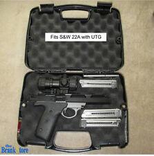 Gun Hard Case Single Pistol Handgun Lock Storage Box Revolver Weapon Safe Carry