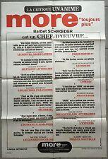 Affiche MORE Barbet Schroeder MIMSY FARMER Klaus Grunberg R80x120cm