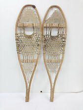 "Antique Vintage Indian Made Kid Child Snowshoes 11"" X 39"" Decor - Arts And Craft"