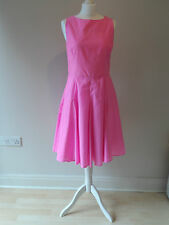 50's 'Rock a Billy' Style Full Skirt Dress Pink with White Polka Dots Size 14