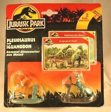 Vintage Jurassic Park 1993 Plesiosaurus and Iguanodon 2 piece set with cards
