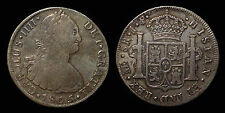 pci1274) SPAIN Carolus IIII 8 Reales 1805 Lima J.P. Toned from old collection
