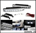 "WHITE LED DRL Fog Running Interior Lights 6.2"" 12V VW TRANSPORTER T4 T5 CADDY"