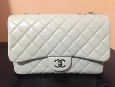 Chanel Classic Caviar Jumbo Single Flap Bag In Beige