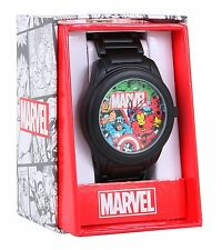 Marvel Comics CLASSIC HEROES METAL BAND WATCH Avengers Iron Man Thor Spiderman