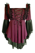 Plus Size Renaissance Medieval Gothic Corset Fairy Witchy Sexy top  Size 20 2X