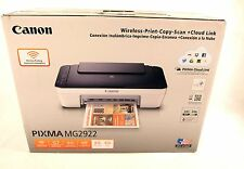 Opened Canon Pixma MG2922 All In One Color Photo Printer Copier Scan Wireless