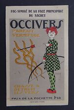 Ancienne étiquette OCCIVERS Vermifuge par Pierre VINCENT french label