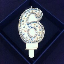 Sixth Number 6 Six Birthday Candle Diamante Topper Frozen Party FREEPOST