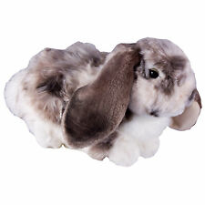 Living Nature Dutch Lop Eared Gray Rabbit 30cm High Quality Realistic Soft Toy