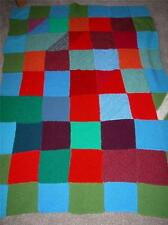 RETRO GRANNY BLANKET KNITTED PATCHWORK CHAIR/SOFA THROW B1412