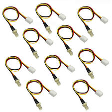 10x 12V 3-Pin Male to 3-pin Female Plastic PC Fan Power Extension Lengthen Cable