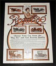 """1910 OLD MAGAZINE PRINT AD, REGAL """"30"""" TOURING CAR, CHOOSE ONE FROM THE BIG SIX!"""