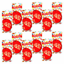 12 Jelly Belly 2D Car Air Freshner Cherry Flavour Smell Scent