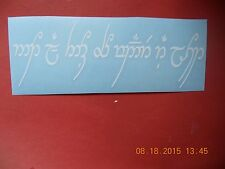 """Lord of the Rings """"Not All Who Wander Are Lost"""" elvish language vinyl decal"""